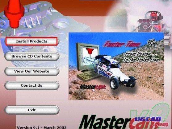 mastercam9.1sp2安装方法