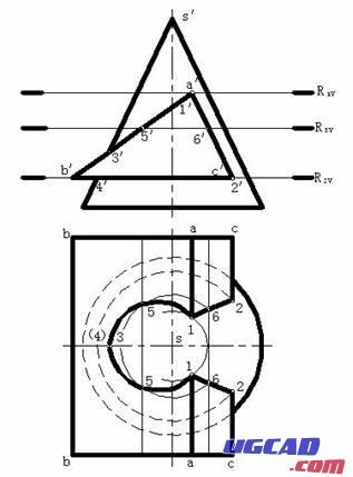 【作图步骤】:    (1)求出相贯线上的特殊点
