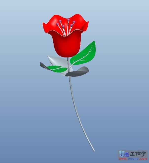 proe中用可变截面扫描画一朵玫瑰花