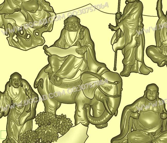 十八罗汉、罗汉图、罗汉精雕图