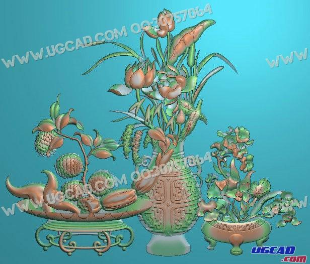 春夏秋冬家具雕刻图浮雕图案