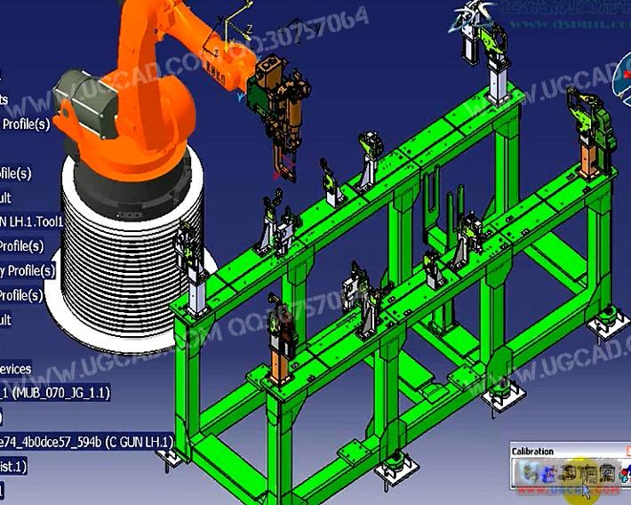 Delmia V5工艺规划机器人仿真视频